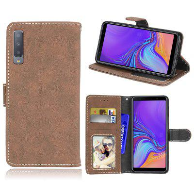 Card Slots Wallet Case Flip Cover PU Leather for Samsung Galaxy A7 2018 A750