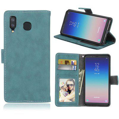 Card Slots Wallet Case Flip Cover PU Leather for Samsung Galaxy A8 Star / A9