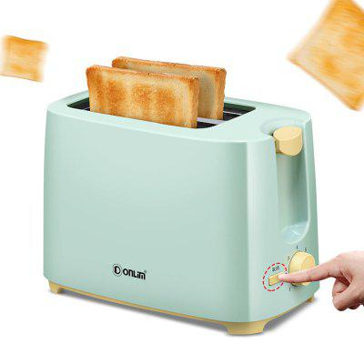 Toaster Home Breakfast 2 Piece Mini Automatic Stainless Steel Steamer