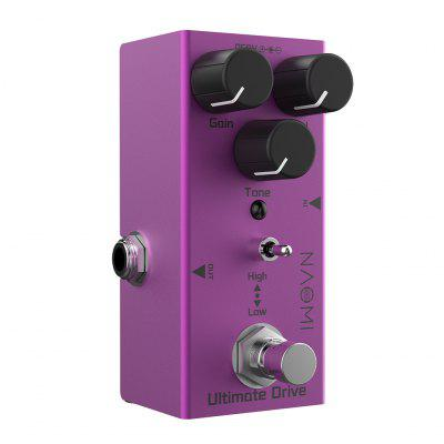NAOMI NEP-02 Ultimate Drive Guitar Pedal Overdrive Effect With True Bypass Wiring & Different Sounds High / Low Tone Switch