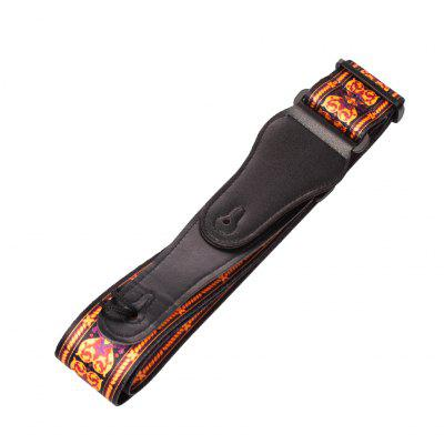 NAOMI Adjustable Guitar Strap Shoulder Belt For Acoustic/ Electric Bass Soft With Leather Ends