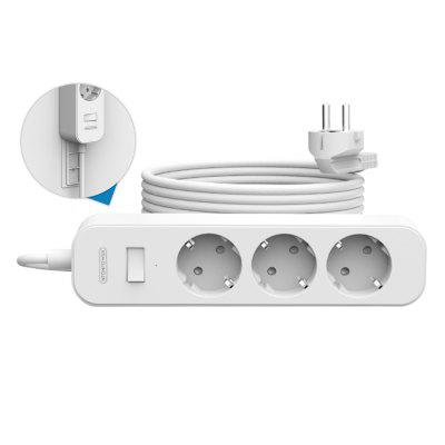 NTONPOWER Wall Mounted Power Strip EU Plug Surge Protector With 3M Cord Extension Socket For Home Office Network Filter