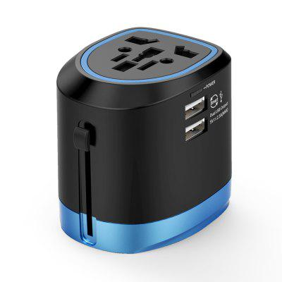 NTONPOWER Universal Travel Adapter All in One International Power Socket Charger with 2 USB Ports Works 150+ Countries