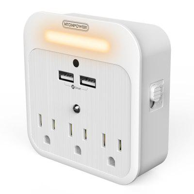 NTONPOWER US Plug Surge Protector Dimmer Switch Cordless Multi USB Outlet Extender Usb Socket For Bathroom Kitchen Bedroom