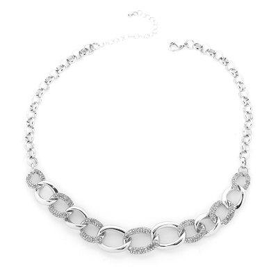 women Jewelry Choker Necklace Fashion Classic Metallic Sparkle Gold / Silver Champagne for Daily Ceremony
