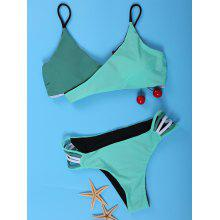Attractive Hit Color Wrapped Convertibe Bikini For Women