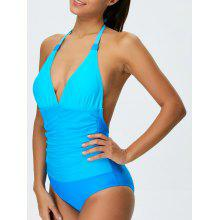 Ombre Halter Shaping One Piece Swimwear