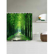 Forest Pathway Print Waterproof Shower Curtain