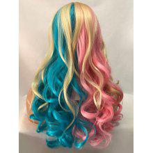 Long Center Parting Colormix Wavy Party Cosplay Synthetic Wig