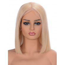 Center Parting Straight Bob Human Hair Lace Front Wig