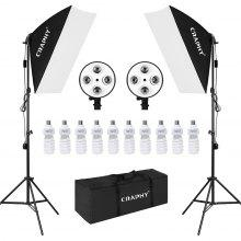 "Craphy 10*45W 16""*33""(40*60cm) Studio Softbox Continuous Lighting Kit with carry bag EU"