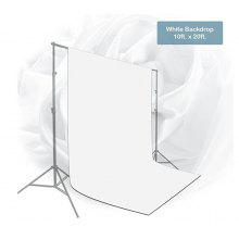 Craphhy 3*3meters Photo Studio 100 Percent Pure Collapsible Backdrop Background for Photography, Video and Television (Background Only) - White