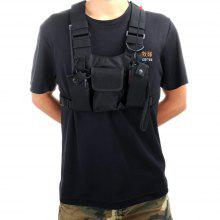 Hysobo Universal Chest Bag for 2 Walkie Talkies