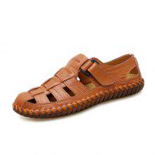 34% OFF Men Stylish Breathable Plus Size Leather Sandals