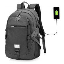 Gearbest Men Casual Canvas Backpack with USB Port