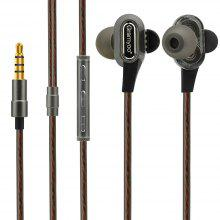 X68 In-ear Subwoofer Wired Earphone with Mic