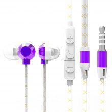 X20 Subwoofer In-ear Earphone Braided Wired Earbuds