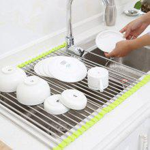 Kitchen Sink Tool Bowl Storage Foldable Drainer Rack