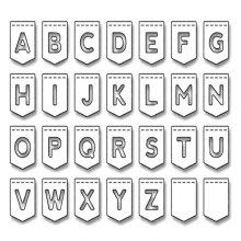DIY English Alphabet Letter Metal Cutting Dies Stencil
