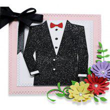 Men's Suits Pattern Metal Cutting Die Set for DIY Paper Cards