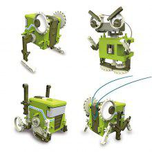 4-in-1 DIY Self-assembled Transformation Robot Toy 1PC