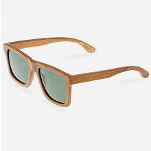 Unisex UV400 Polarized Sunglasses Goggle with Bamboo Frame