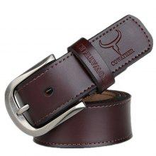 COWATHER Men Business Pin Buckle Leather Trouser Belt