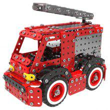 Stainless Steel Fire Truck Building Blocks 592pcs