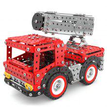 Stainless Steel Aerial Ladder Fire Truck Building Blocks 612pcs
