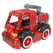 MoFunSW - 014 Stainless Steel Building Blocks Fire Engine Toy 592pcs