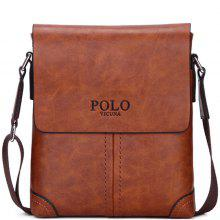 VICUNAPOLO Men Retro PU Shoulder Bag