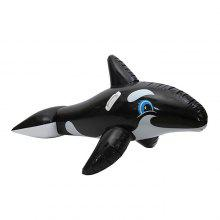 Inflatable Cartoon Whale Swimming Ring Seat with Handle