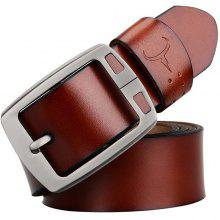COWATHER Men Stylish Business Pin Buckle Leather Trouser Belt
