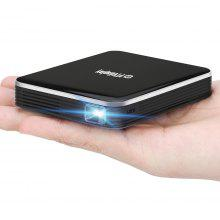 P6 DLP Mini Projector 1080P Home Theatre - BLACK