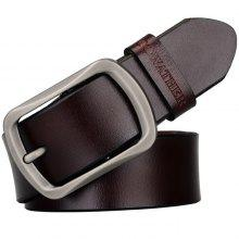 COWATHER Men Exquisite Pin Buckle Leather Belt