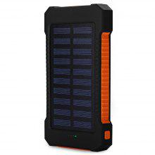 HDL - 6 Portable 10000mAh Solar Mobile Power Bank