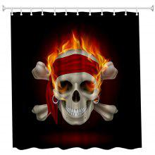 Skeleton Bones Polyester Shower Curtain Bathroom High Definition 3D Printing Water-Proof