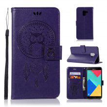 Owl Campanula Fashion Wallet Cover For Samsung Galaxy A8 2018 Phone Bag With Stand PU Extravagant Flip Leather Case