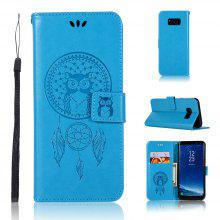 Owl Campanula Fashion Wallet Cover For Samsung Galaxy S8 Phone Bag With Stand PU Extravagant Flip Leather Case