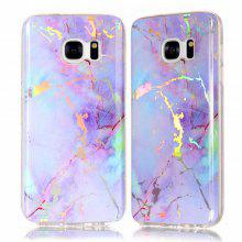 915f97f8739 Fashion Color Plated Marble Phone Case For Samsung Galaxy S7 Case Cover  Luxurious Soft TPU Full