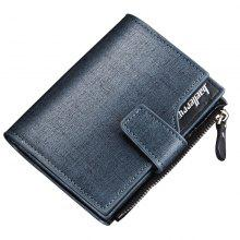Baellerry Multi-function Men's PU Leather Bussiness Short Wallet Credit Card Holder