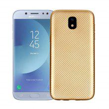 Electroplated Carbon Fiber Case for Samsung Galaxy J5 2017 European Verison TPU Soft Back Cover
