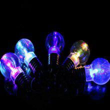 5Pcs Luminous Plastic Bulb Shaped Ring Mini Spiral Bulb Keychain