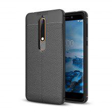 Shockproof Case for Nokia 6 2018 Litchi Grain Anti Drop TPU Soft Cover