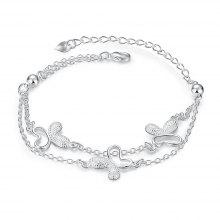 Fashion Butterfly Alloy Chain Bracelet Charm Jewelry