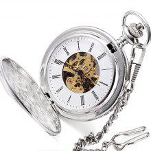 Jijia JX022 Double Open Mechanical Pocket Watch