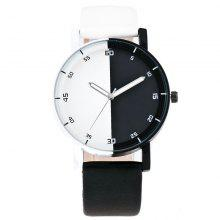 Black White Splicing Creative Student Watch