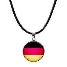 2018 Flag Necklace Leather Football Sport Male Fashion Jewellery