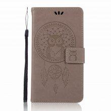 3D Pattern Owl for Lenovo P2 Leather Mobile Shell Flip Cover Wallet Phone Case