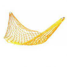 Portable Mesh Swing Hammock with Durable Nylon Material for Outdoor Camping